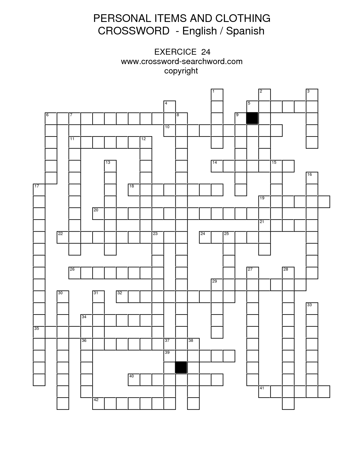 flirting quotes in spanish crossword puzzles printable puzzles