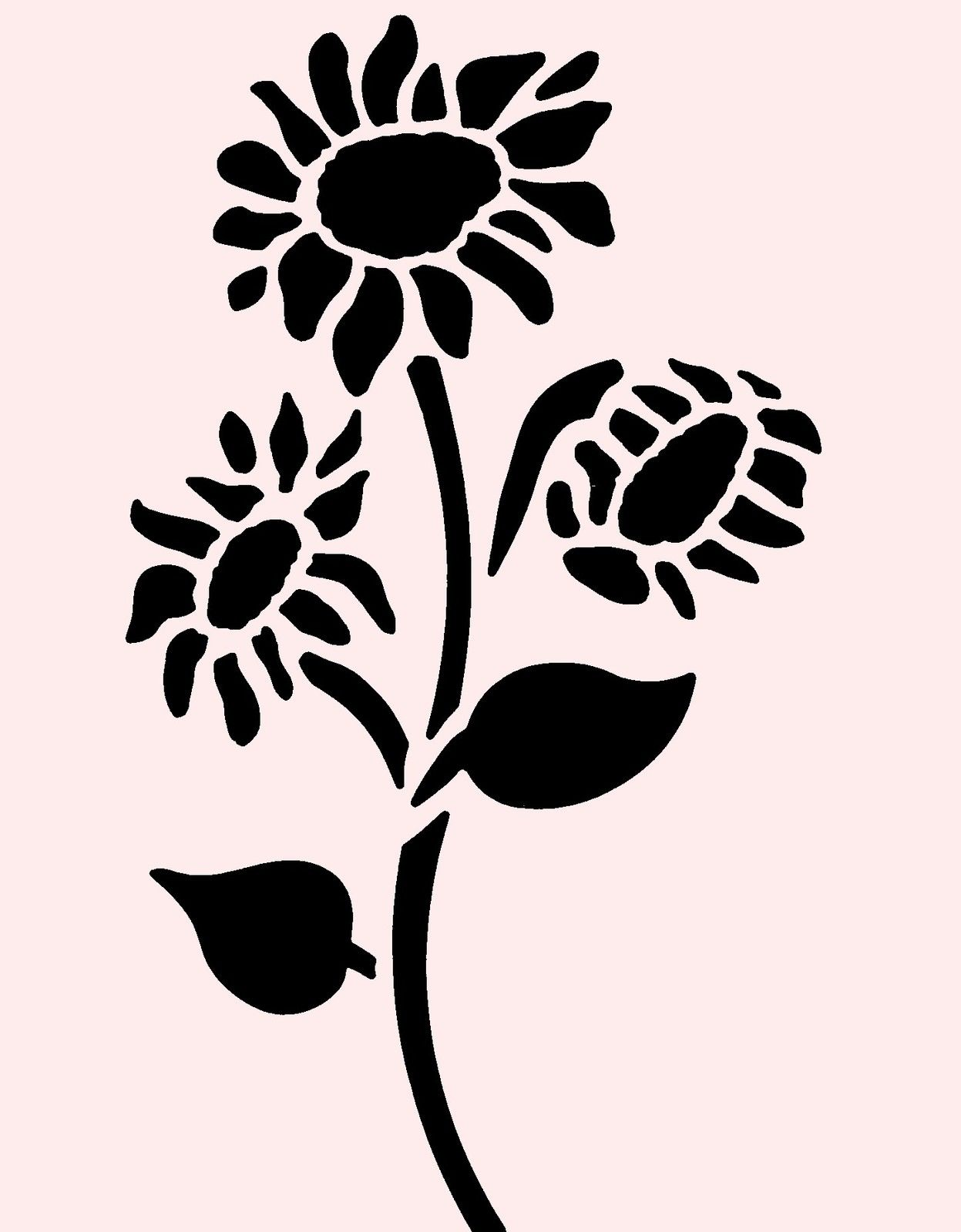 Flower Stencils Printable : The gallery for gt sunflower stencil