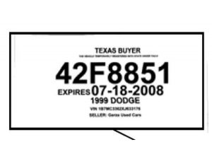 Texas Temporary License Plate >> 7 Best Images of Texas Temporary License Plate Printable - Texas Temporary License Plate, Texas ...