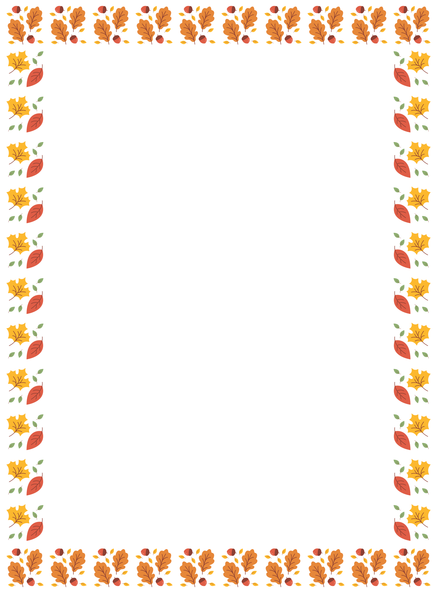 5 Images of Printable Thanksgiving Borders