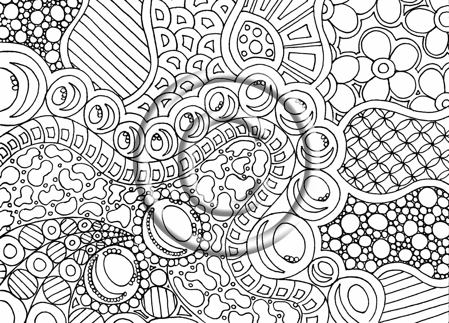 7 best images of printable abstract coloring pages stoner for Trippy coloring pages