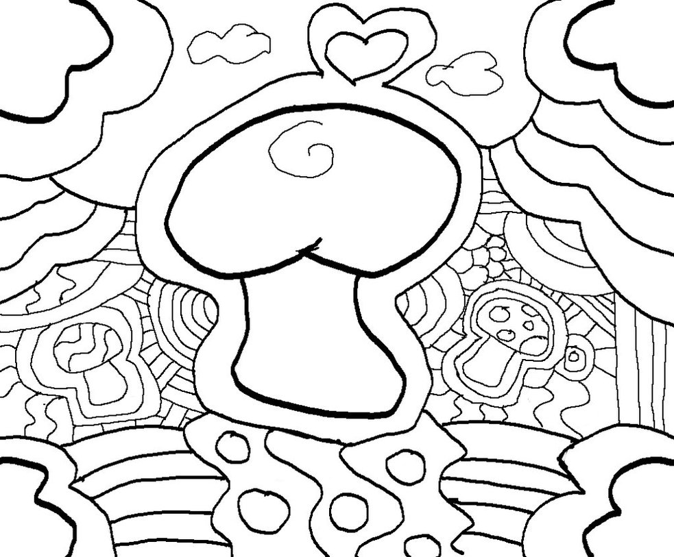 7 best images of printable abstract coloring pages stoner for Printable stoner coloring pages
