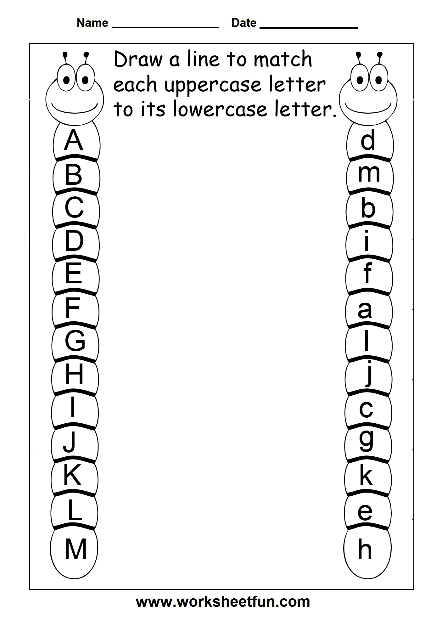 Worksheet Free Printable Worksheets For Kindergarten Alphabet alphabet letter identification worksheets for kids printable recognition sviolett recognizing and matching identical letters free preschool