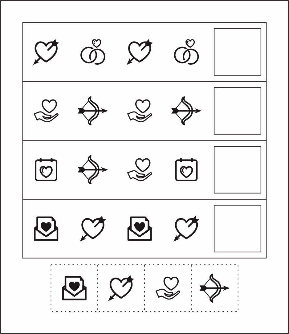 Valentines Math Worksheet Preschool