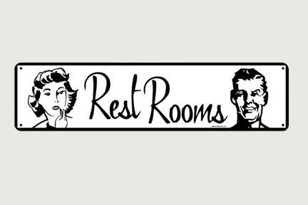 8 Images of Vintage Restroom Sign Printables