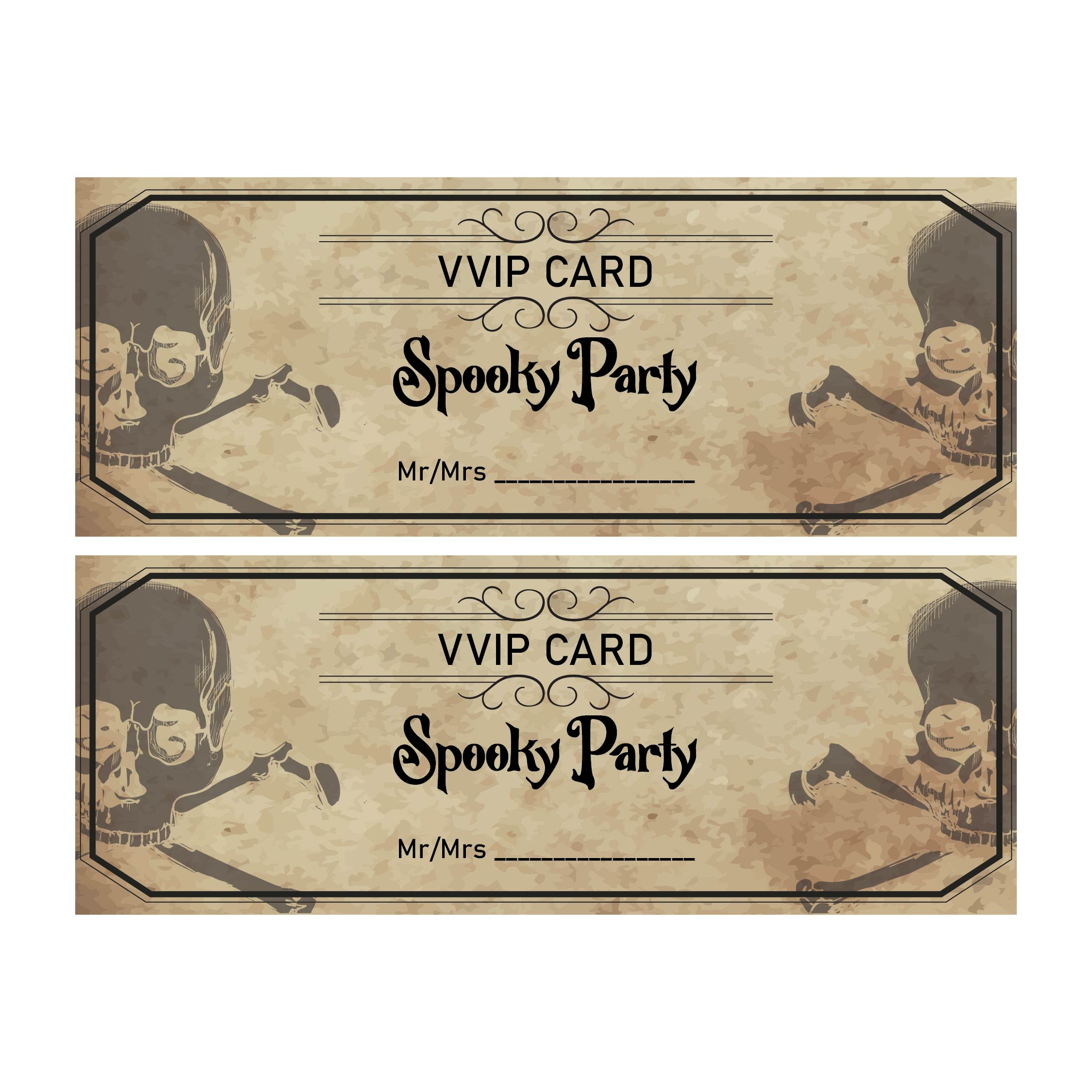 Vintage Halloween Party Invitations Printable
