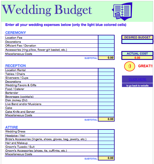 Worksheet Free Wedding Budget Worksheet 5 best images of printable wedding budget worksheet template printable