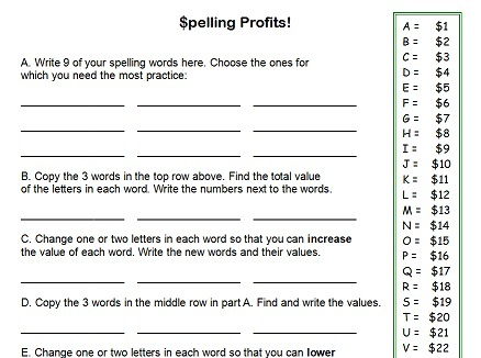 Worksheet Printable 4th Grade Worksheets 5 best images of free printable spelling worksheets 4th grade printable