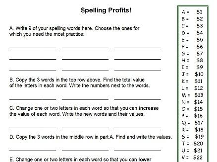Number Names Worksheets free spelling worksheet : 5 Best Images of Free Printable Spelling Worksheets 4th Grade ...