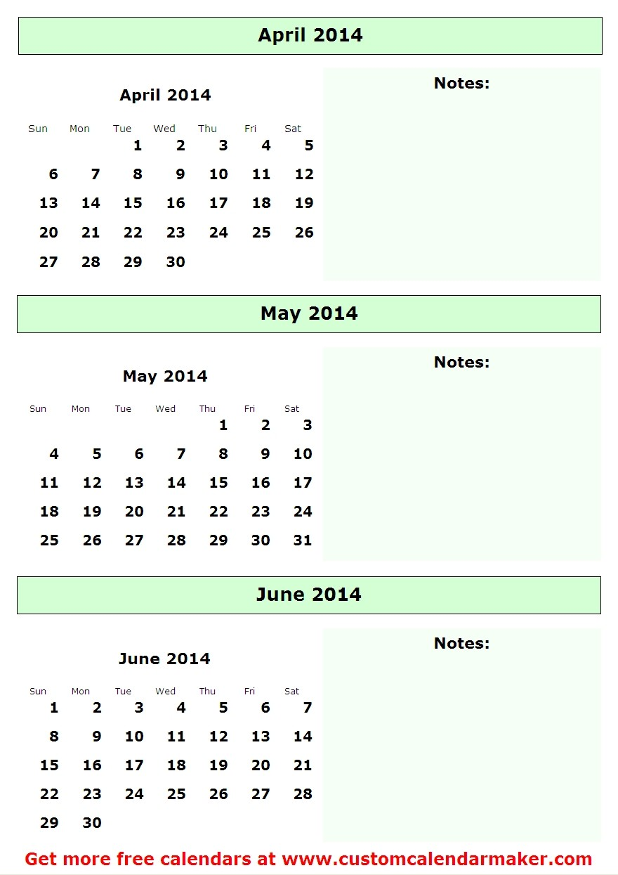 Calendar April May June Printable : Best images of april and may calendar printable