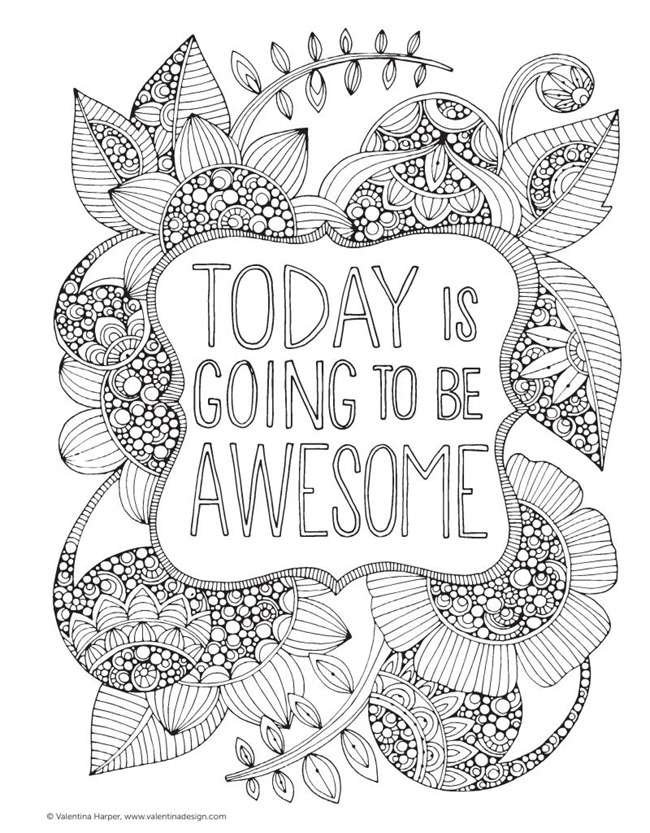 4 Images of Awesome Adult Coloring Pages Printable