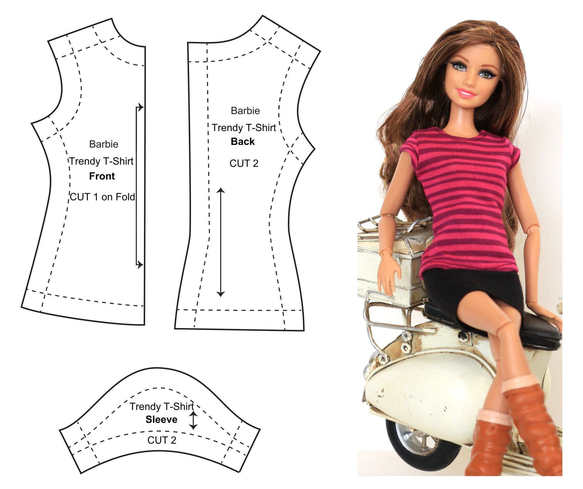 9 Images of Barbie Clothes Templates Printable
