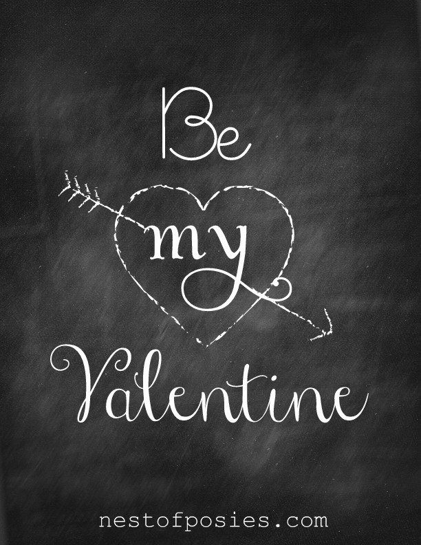 7 Images of Valentine Chalkboard Printables