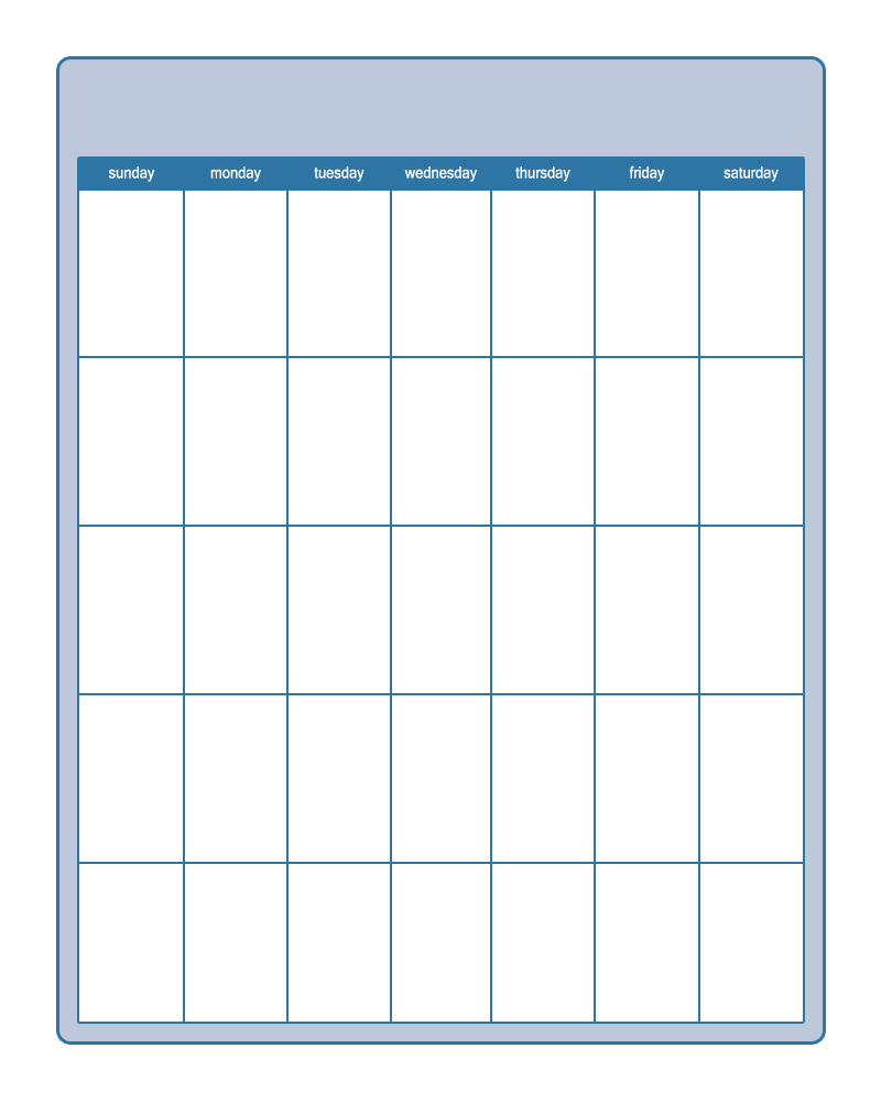 5 Images of Teachers Blank Printable Calendar