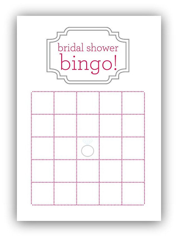 6 best images of bride bingo template printable bridal for Templates for bridal shower games