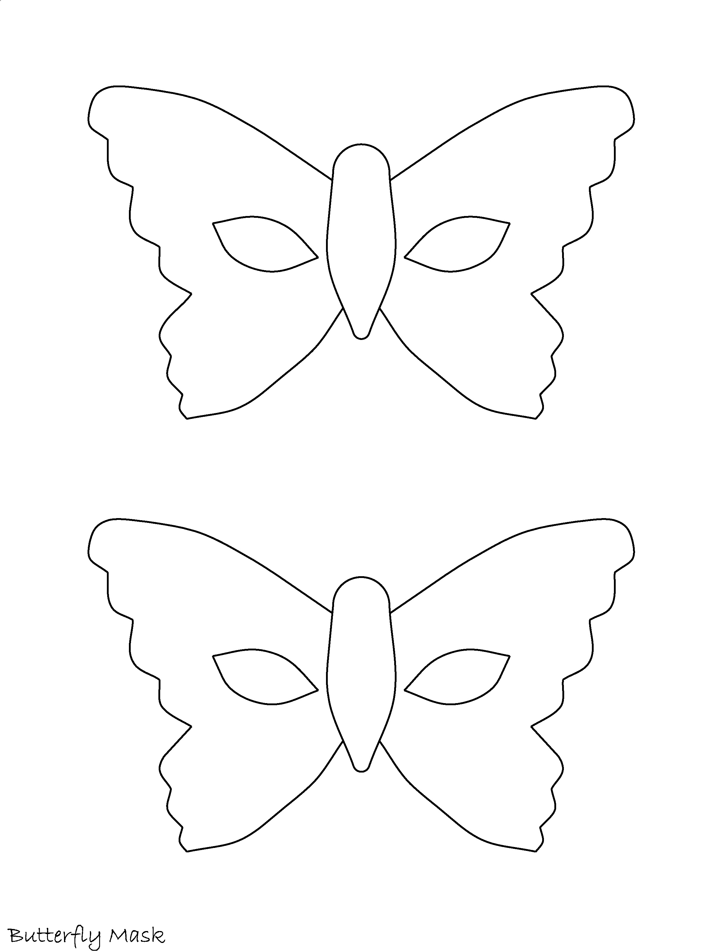 7 Images of Printable Butterfly Mask