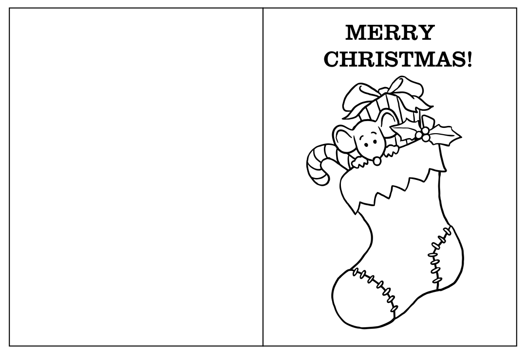 Christmas Card Coloring Pages