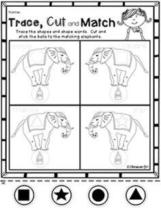 Circus Theme Preschool Worksheets