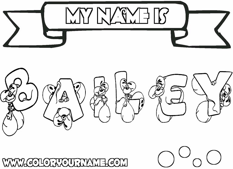 8 Images of Free Printable Coloring Pages With Your Name
