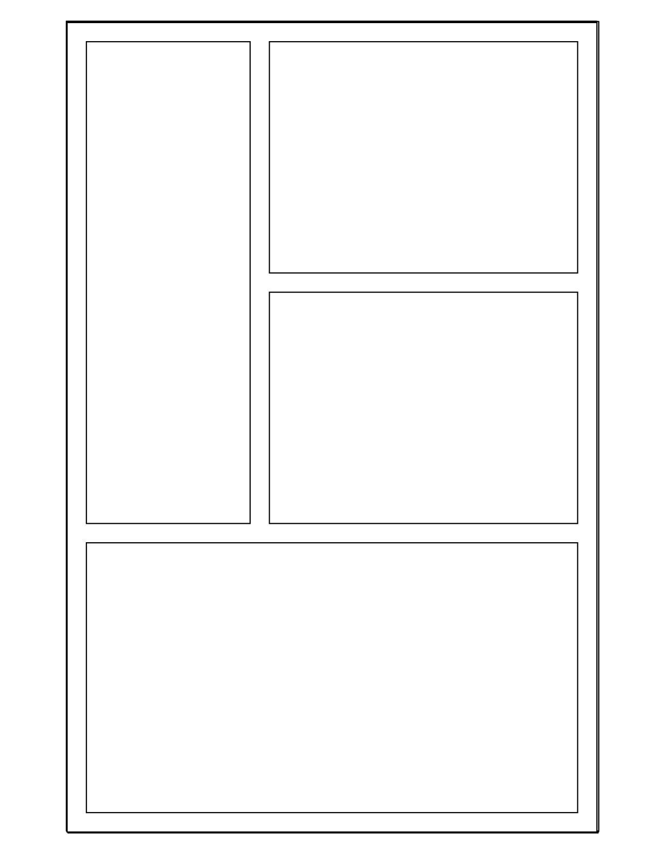 8 best images of printable comic templates comic strip for Printable blank comic strip template for kids