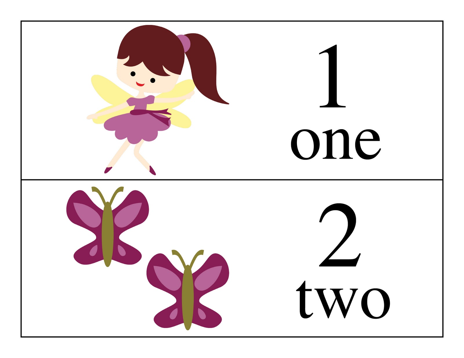 9 Images of Printable Counting Cards
