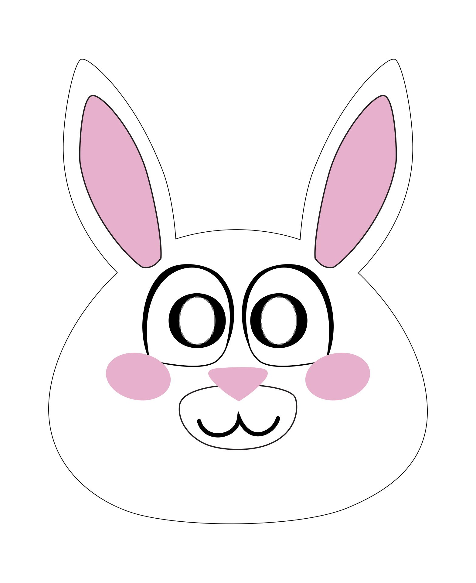 9 Images of Paper Plate Easter Bunny Mask Printable