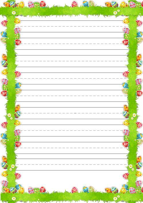 6 Best Images Of Easter Printable Corner Borders Border