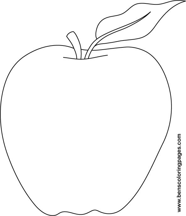 6 Images of Free Printable Apple Template