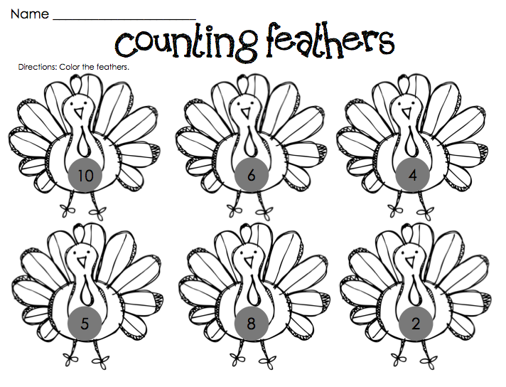 8 Images of Turkey Printables For Kindergarten