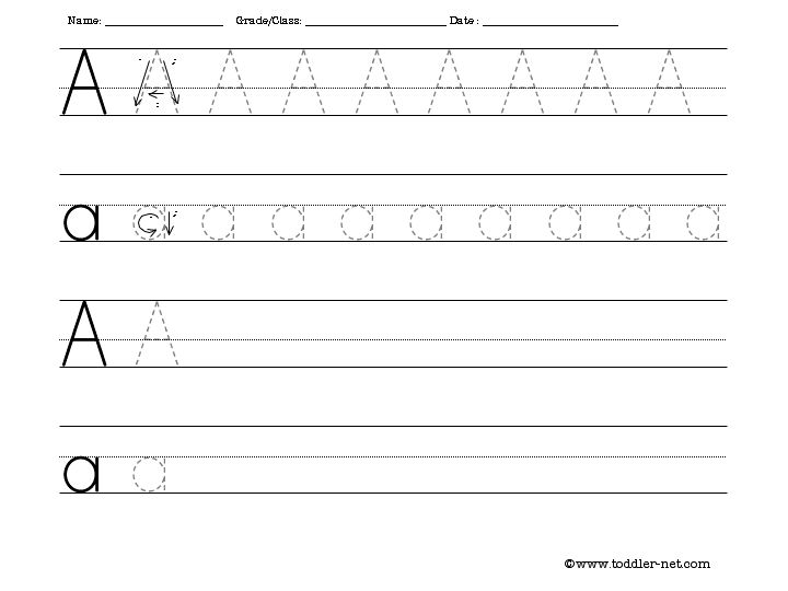 7 Images of Writing The Letter A Printables