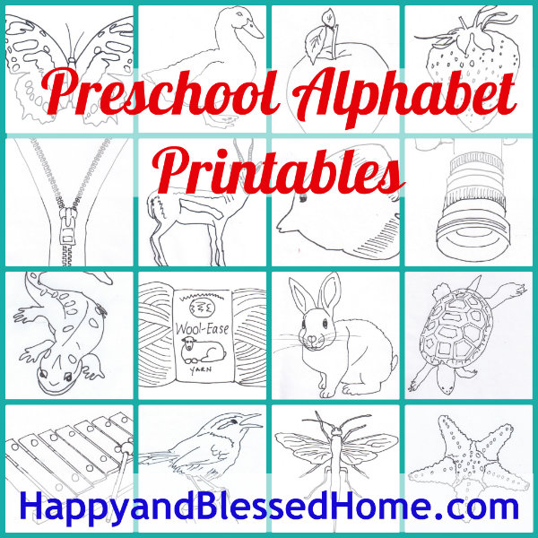 6 Images of Free Alphabet Printables For Preschoolers