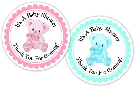 8 Images of Free Printable Baby Shower Stickers