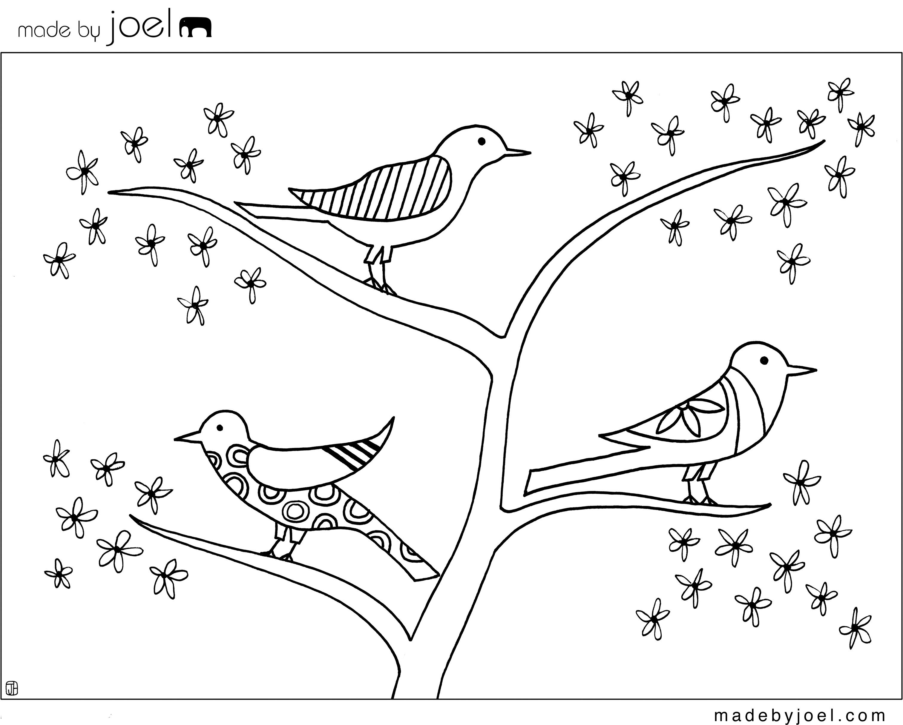 Free Printable Bird Coloring Sheet
