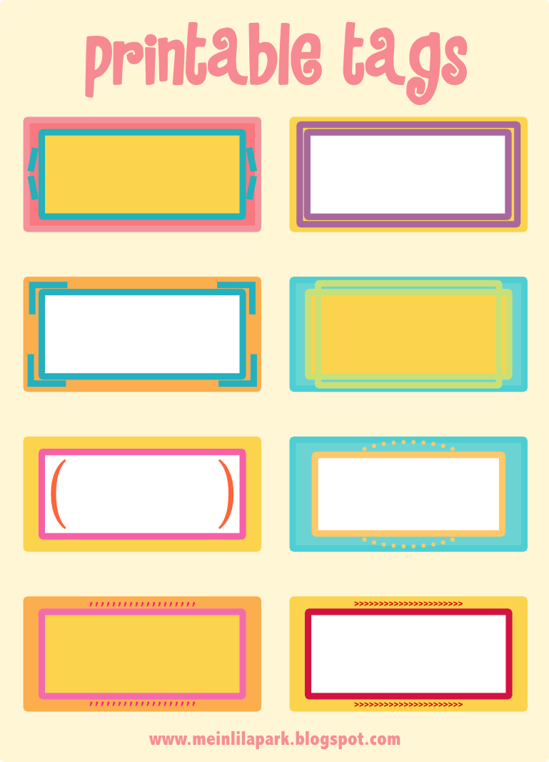 4 Images of Free Blank Printable Tags Labels