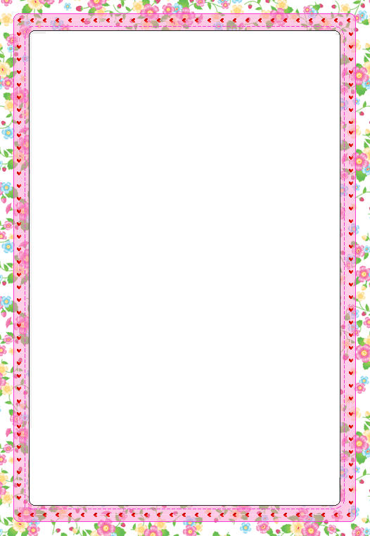 7 Images of Free Printable Spring Borders Flowers