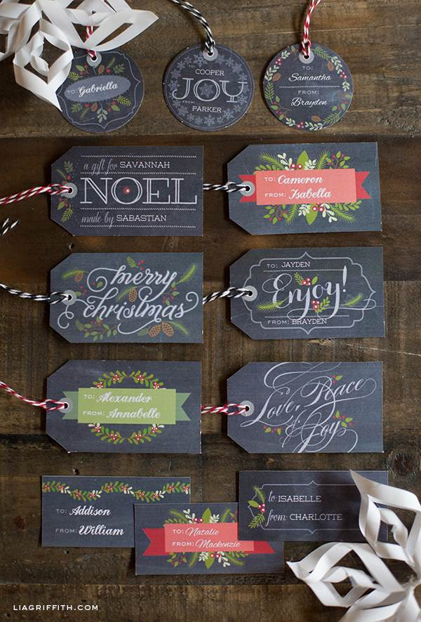 4 Images of Free Printable Chalkboard Gift Tags
