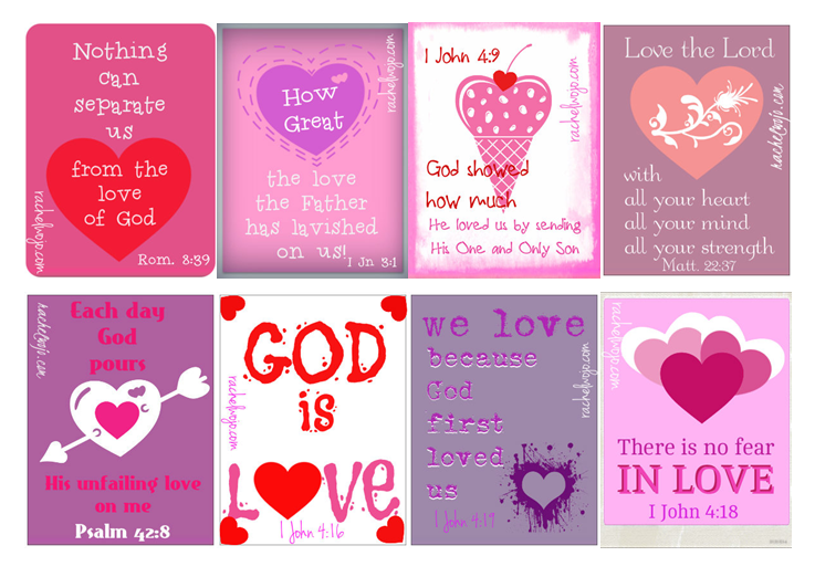 6 Images of Love Bible Verses For Valentine's Day Printable