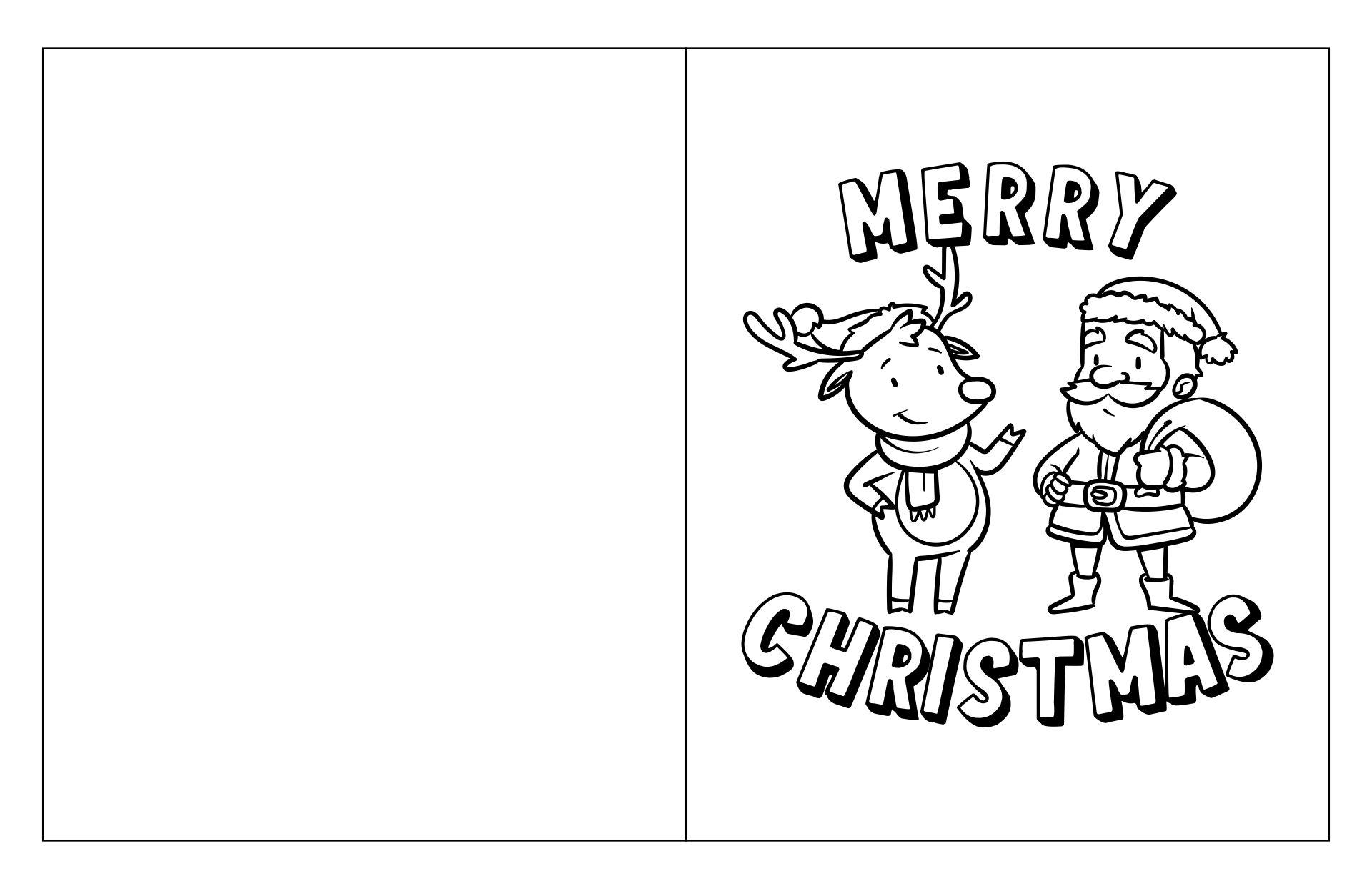 Printable Christmas Cards You Can Color