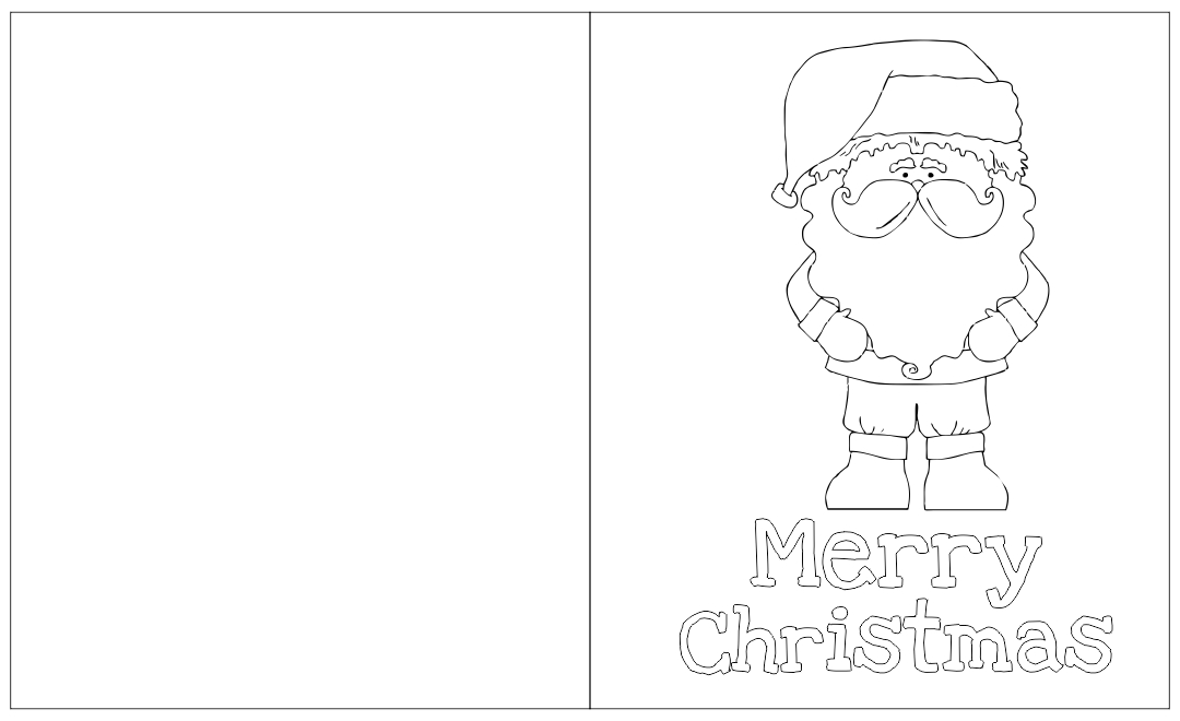 7 Images of Printable Foldable Coloring Christmas Cards