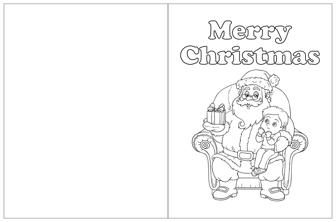 7 Best Images Of Printable Foldable Coloring Christmas