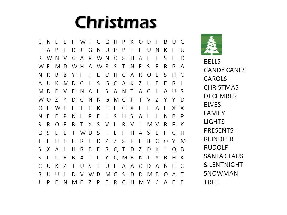 Printable Christmas Word Puzzles