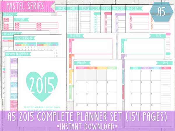 5 Images of Cute Printable 2015 Planner Cover