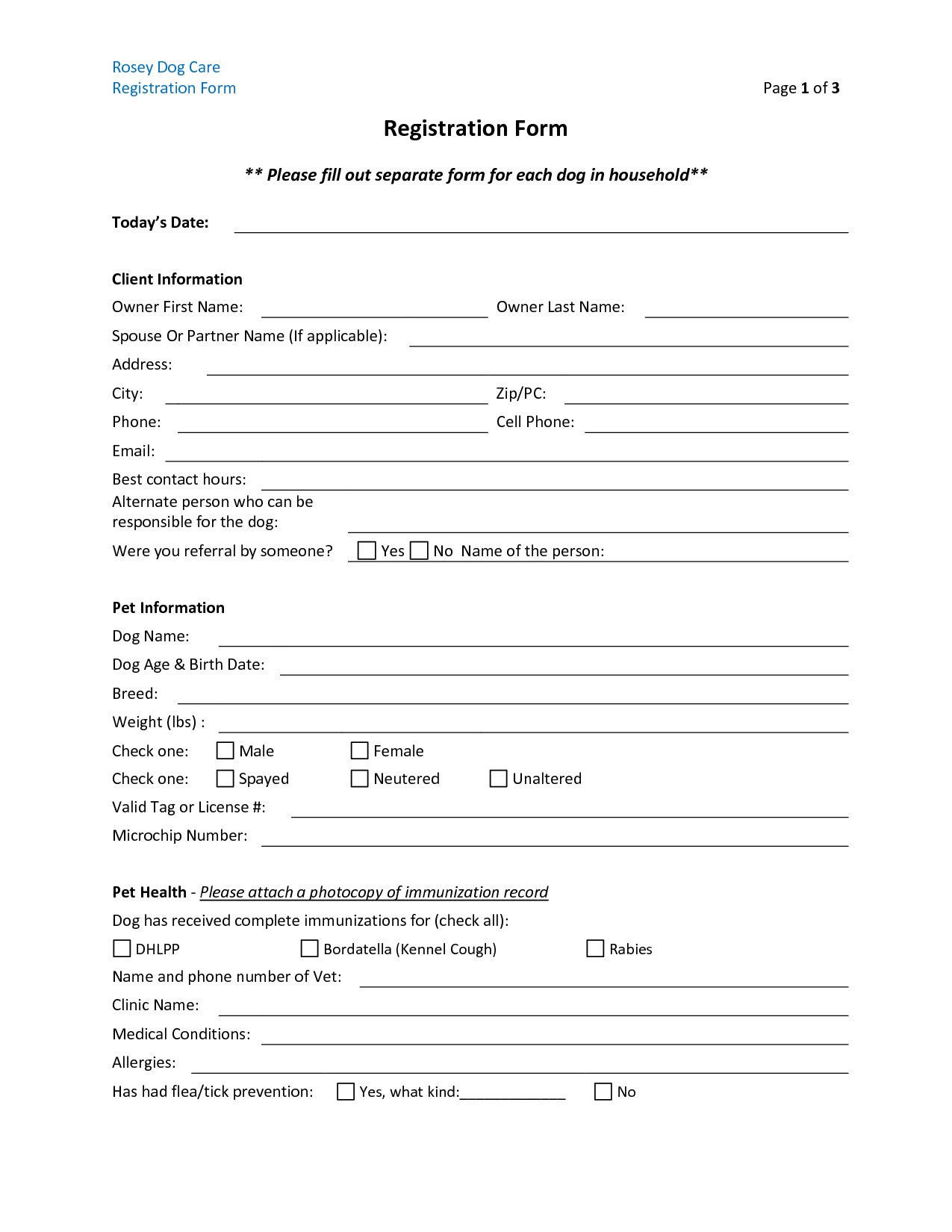 printable daycare forms my blog in printable daycare flyers 1000