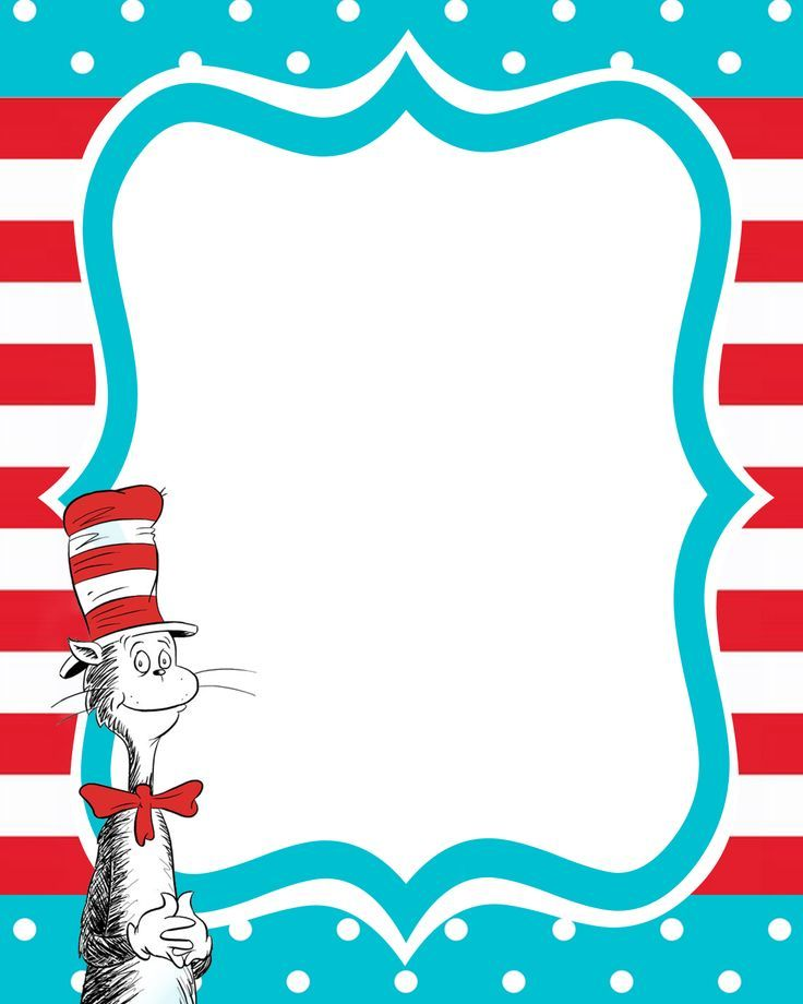 6 Images of Dr. Seuss Free Printable Templates