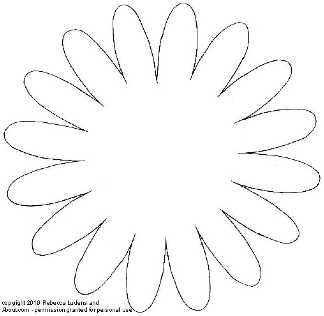 Paper Flower Patterns - Paper Flower Templates Printable Free, Paper ...
