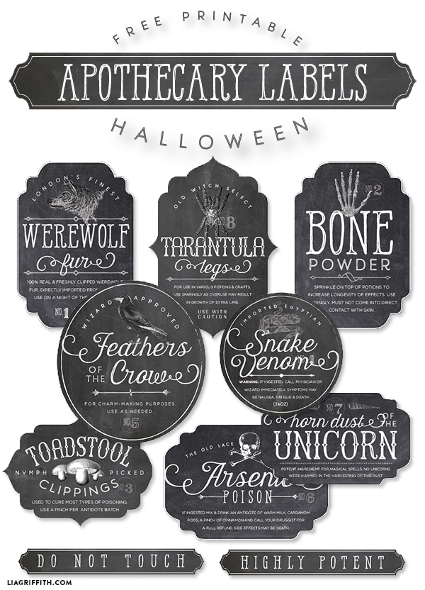 5 Images of Free Printable Apothecary Labels