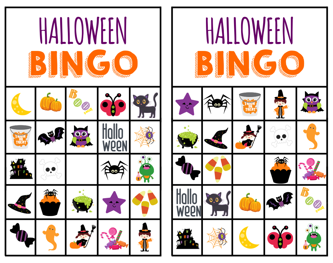 6 Images of Printable Halloween Bingo Game