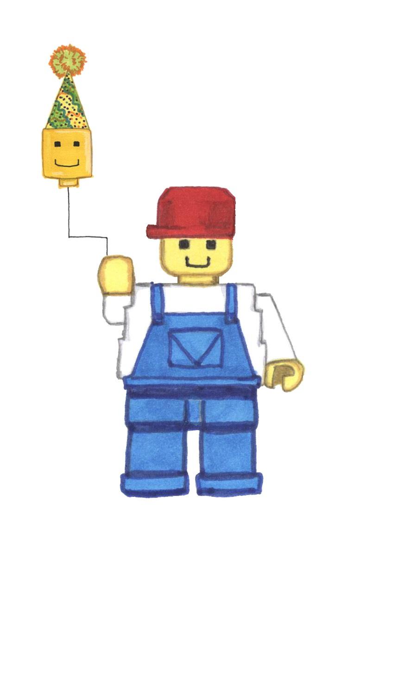 Free Printable LEGO Birthday Card