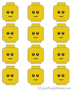 7 Images of LEGO Party Printables