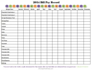 Free Printable Monthly Bill Calendar